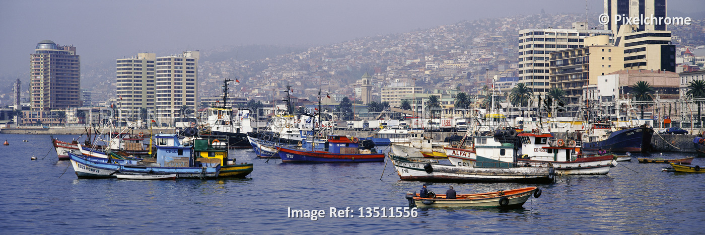 Fishing Boats in Harbour Valparaiso, Chile